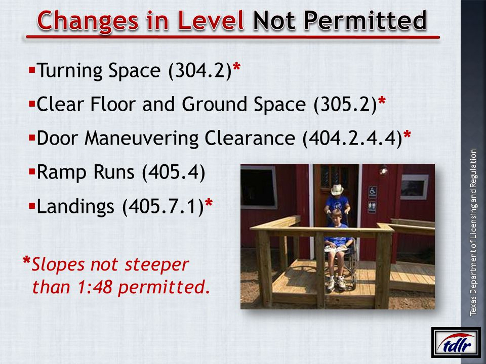Changes in Level Not Permitted