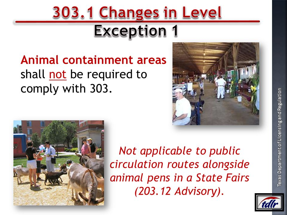 303.1 Changes in Level Exception 1