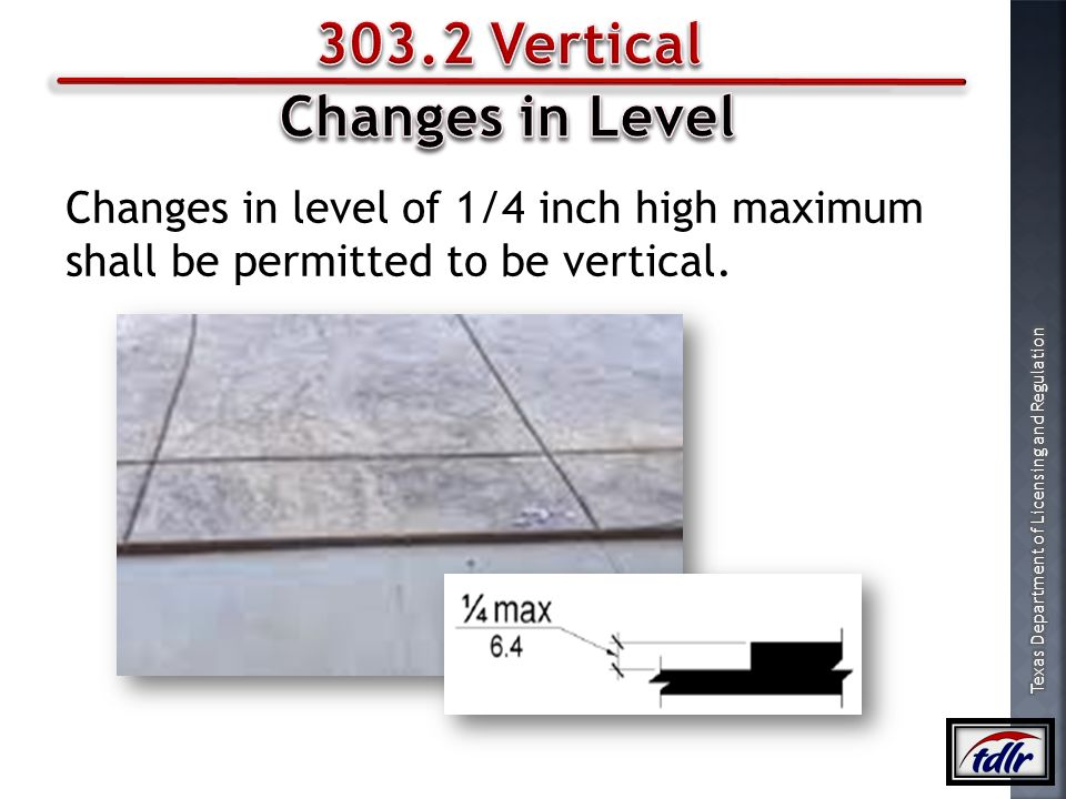 303.2 Vertical Changes in Level