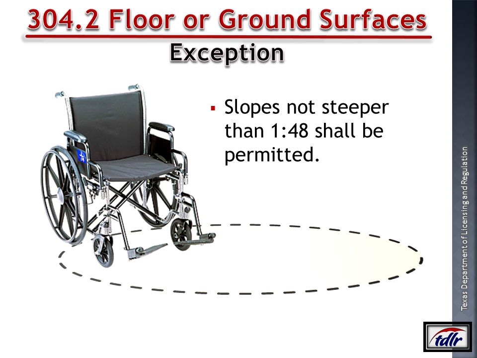 304.2 Floor or Ground Surfaces
