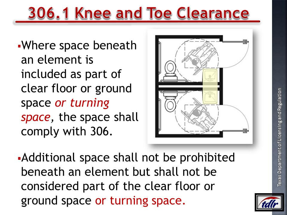 306.1 Knee and Toe Clearance