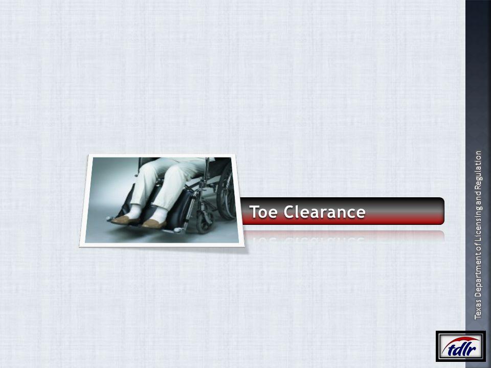 Toe Clearance