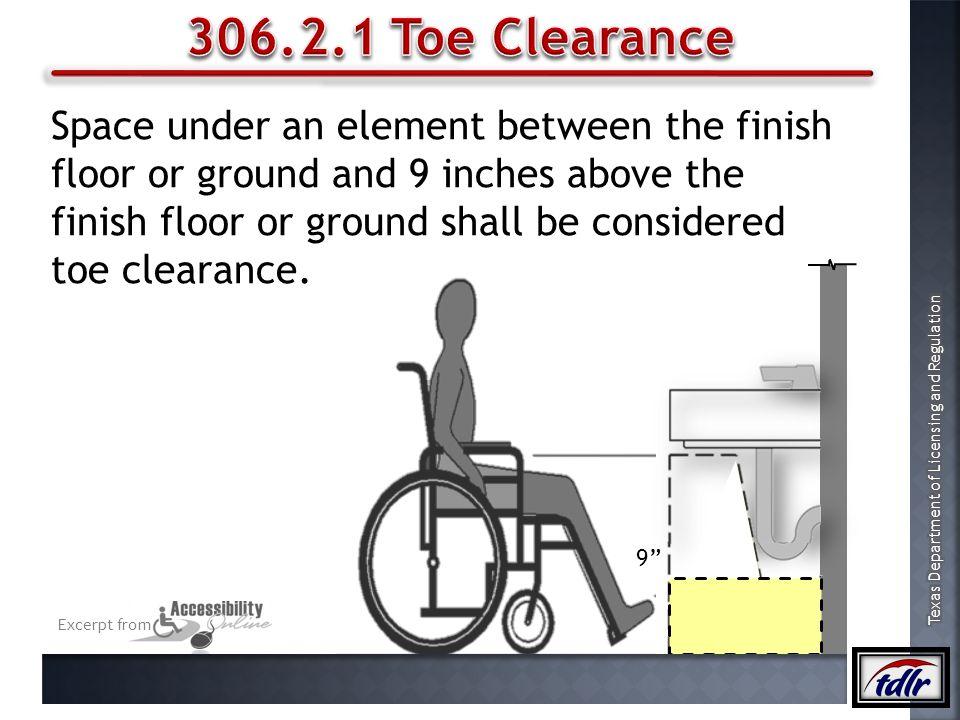 306.2.1 Toe Clearance