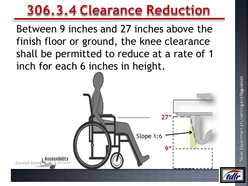 306.3.4 Clearance Reduction