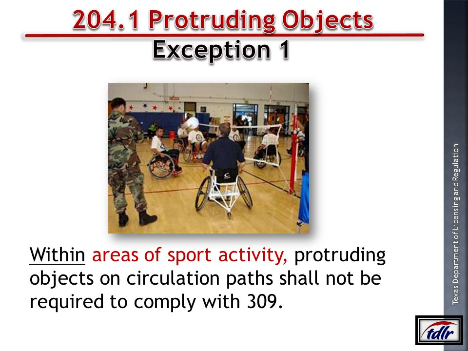 204.1 Protruding Objects Exception 1