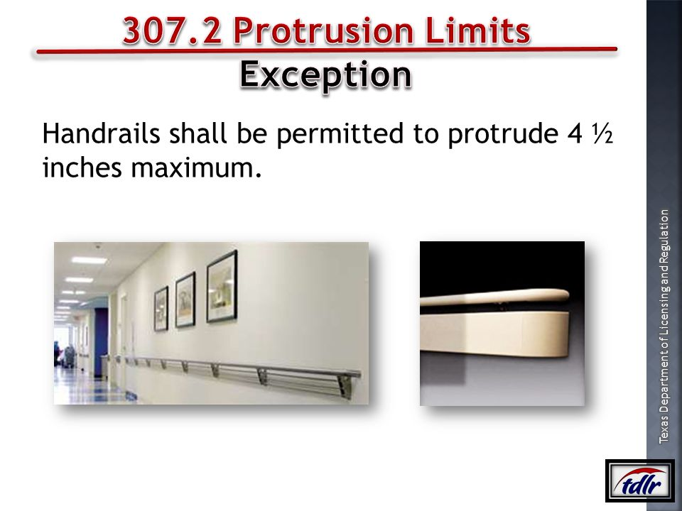307.2 Protrusion Limits Exception