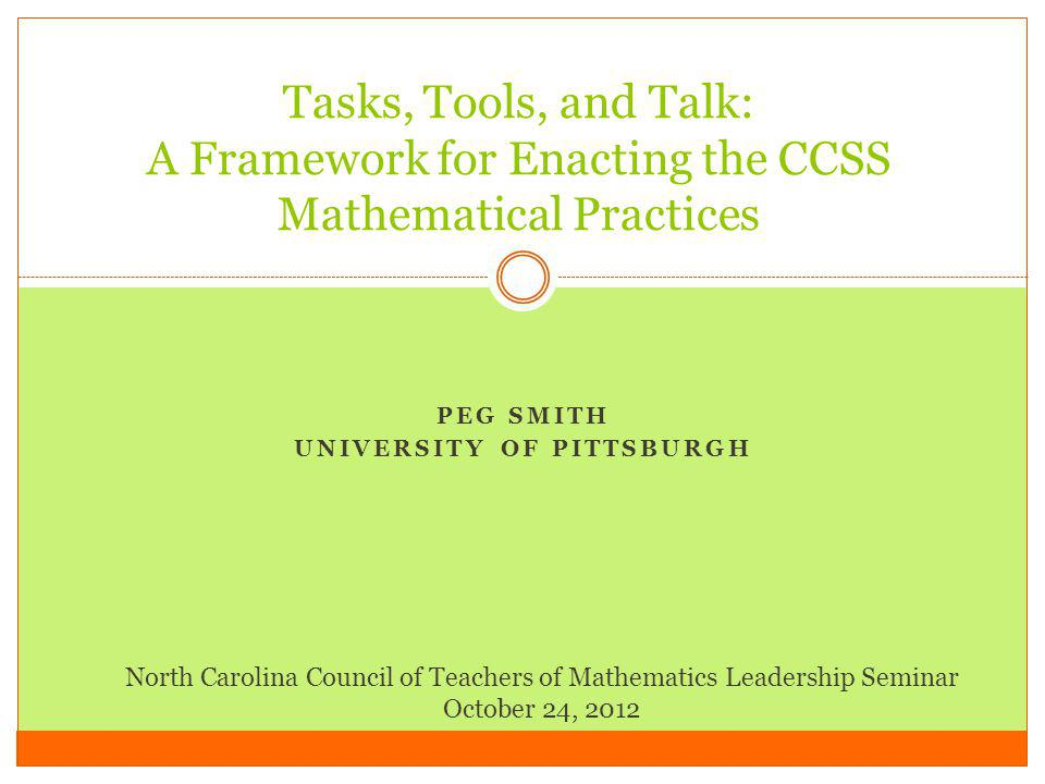 Peg Smith University of Pittsburgh