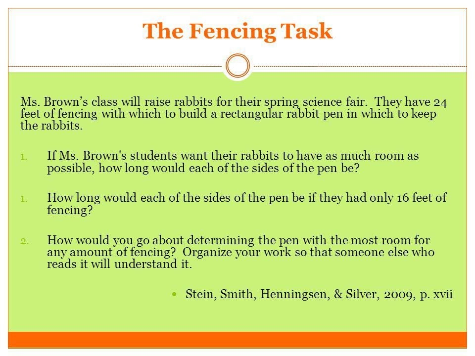 The Fencing Task