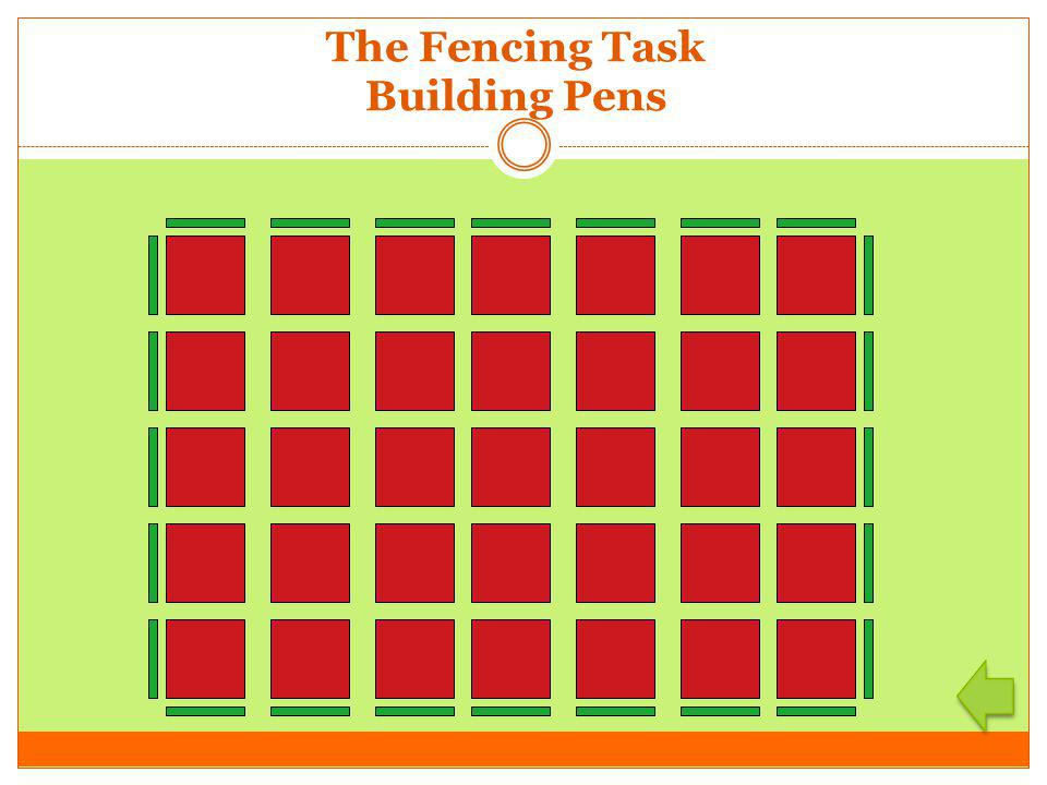 The Fencing Task Building Pens