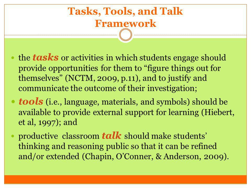 Tasks, Tools, and Talk Framework