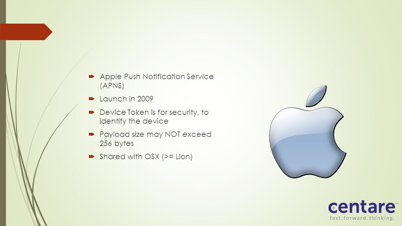 Apple Push Notification Service (APNS) Launch in 2009
