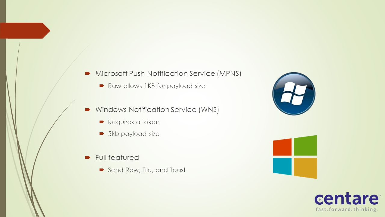 Microsoft Push Notification Service (MPNS)