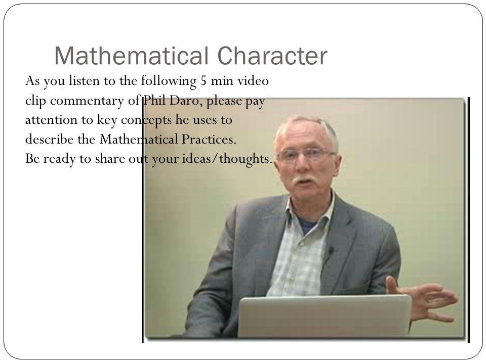 Mathematical Character