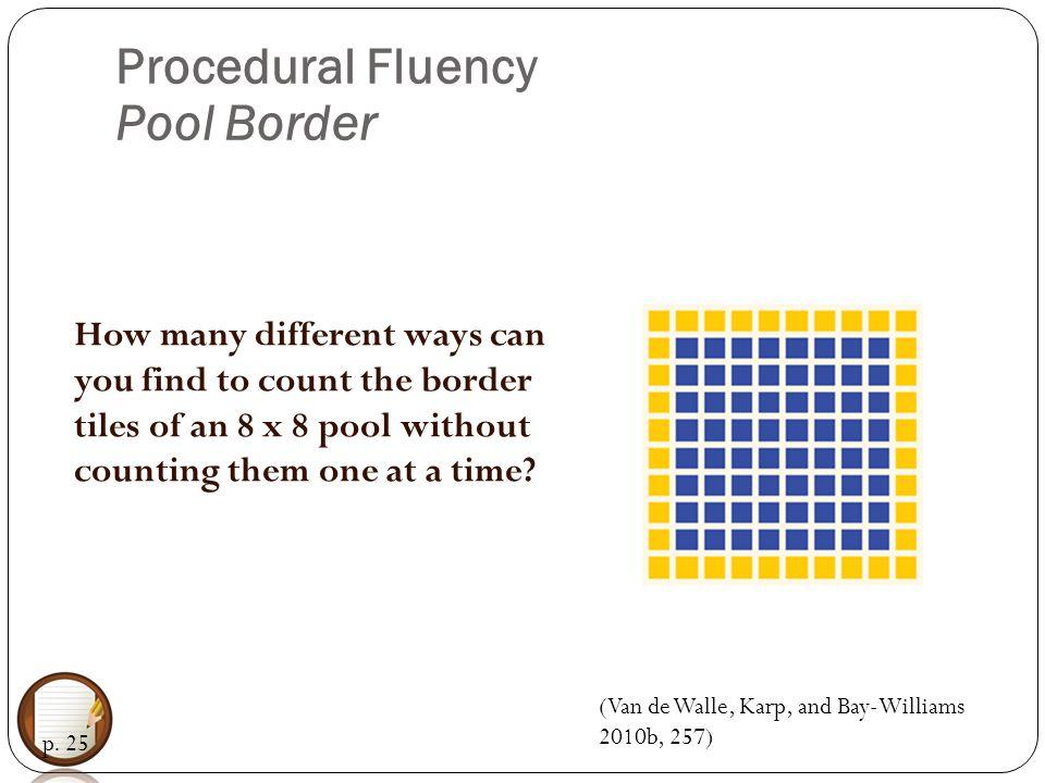 Procedural Fluency Pool Border