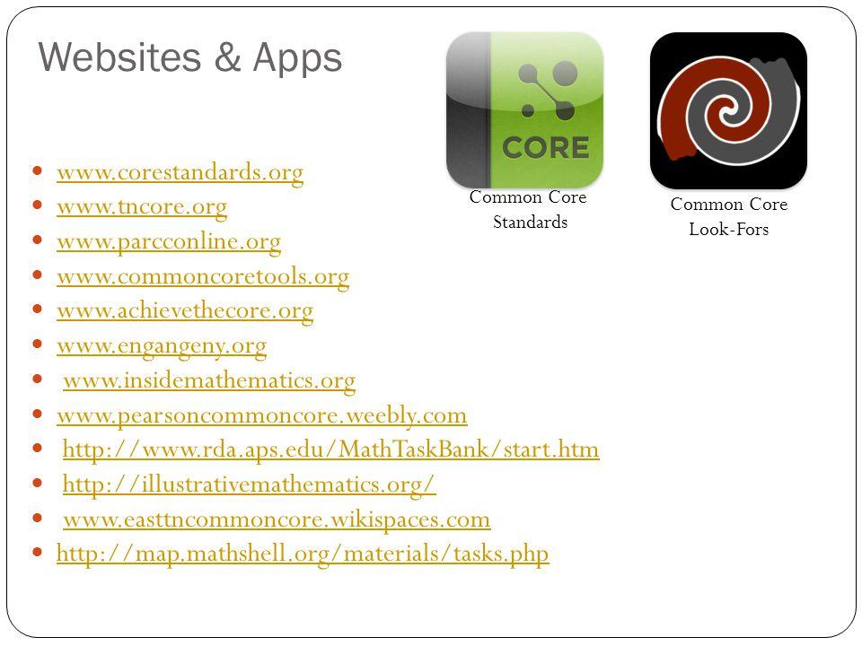 Websites & Apps www.corestandards.org www.tncore.org