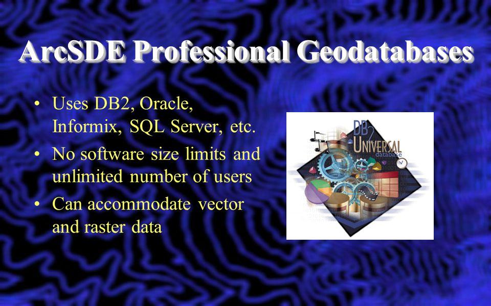 ArcSDE Professional Geodatabases
