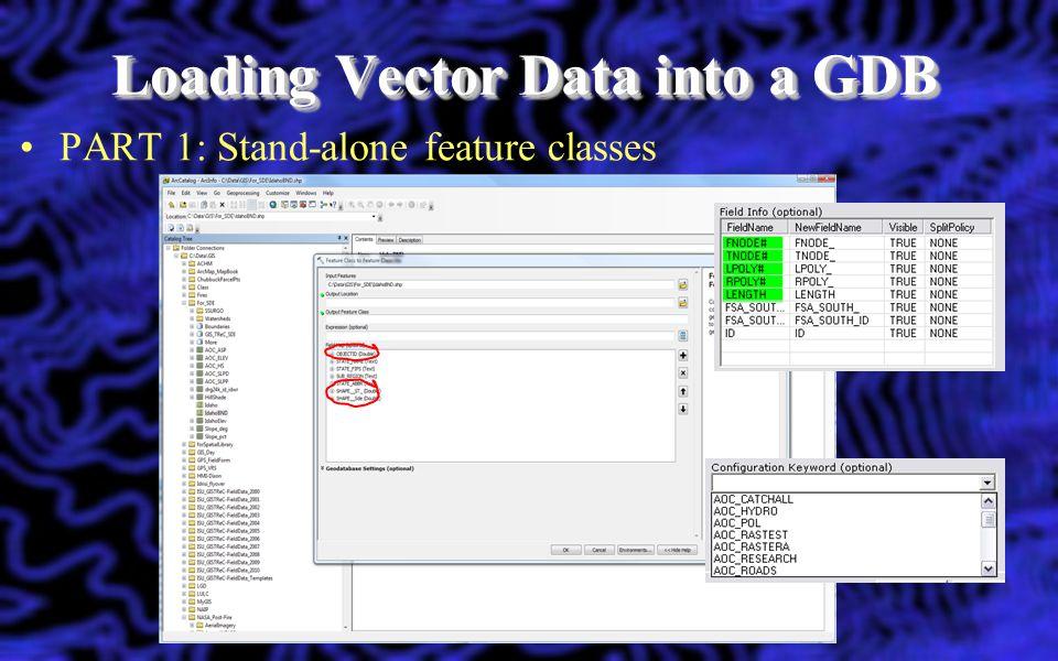 Loading Vector Data into a GDB