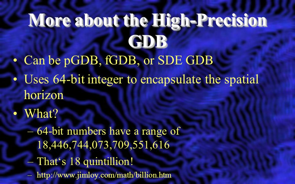 More about the High-Precision GDB
