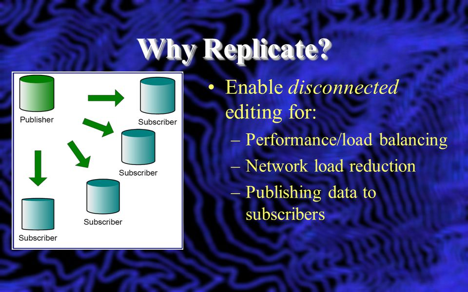 Why Replicate Enable disconnected editing for: