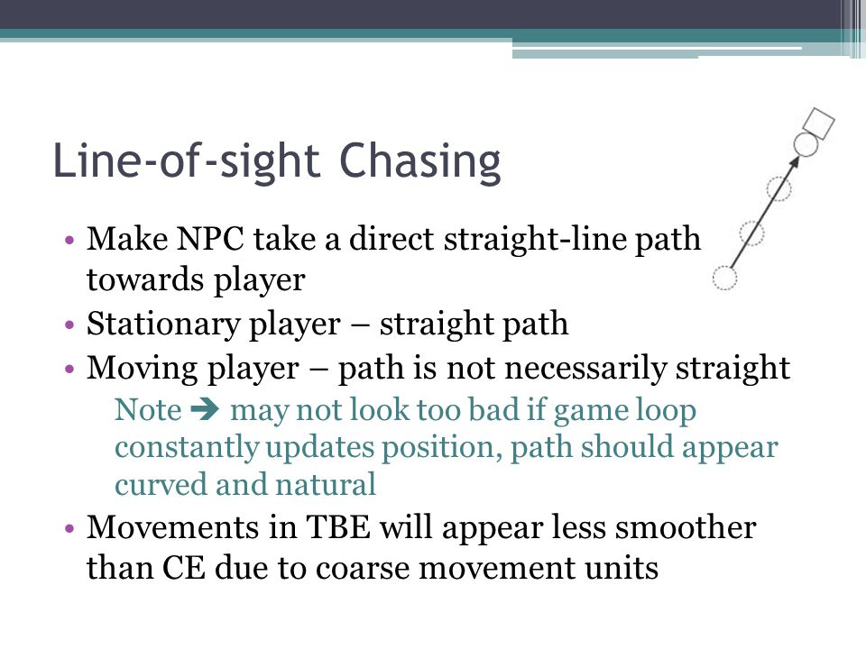Line-of-sight Chasing