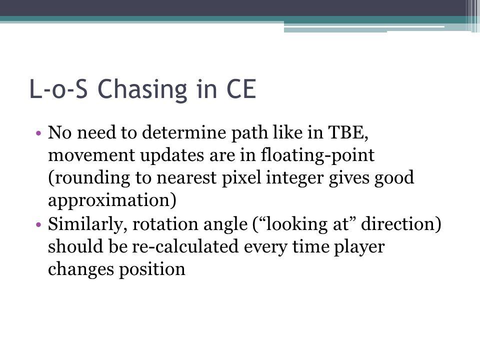 L-o-S Chasing in CE