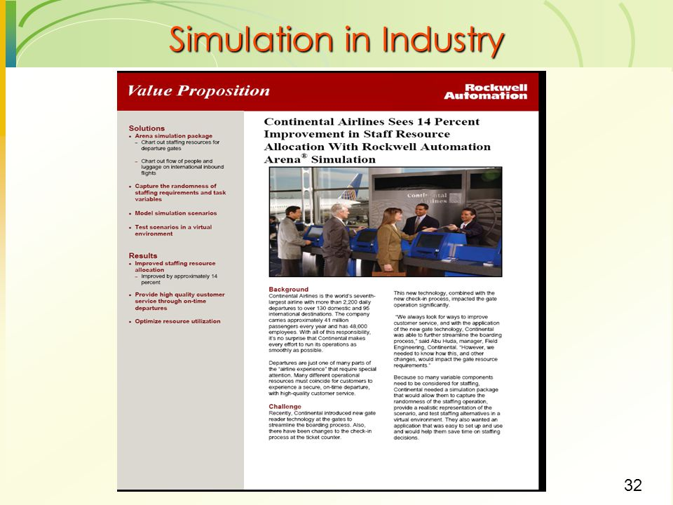 Simulation in Industry