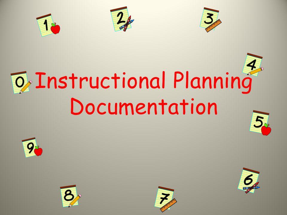 Instructional Planning Documentation