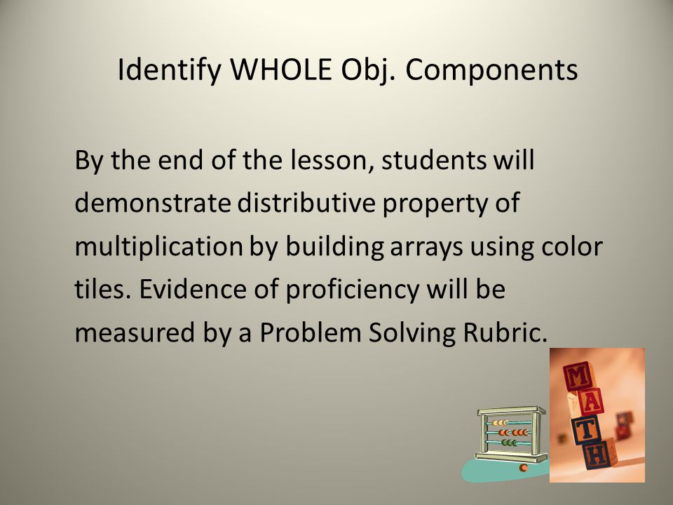 Identify WHOLE Obj. Components