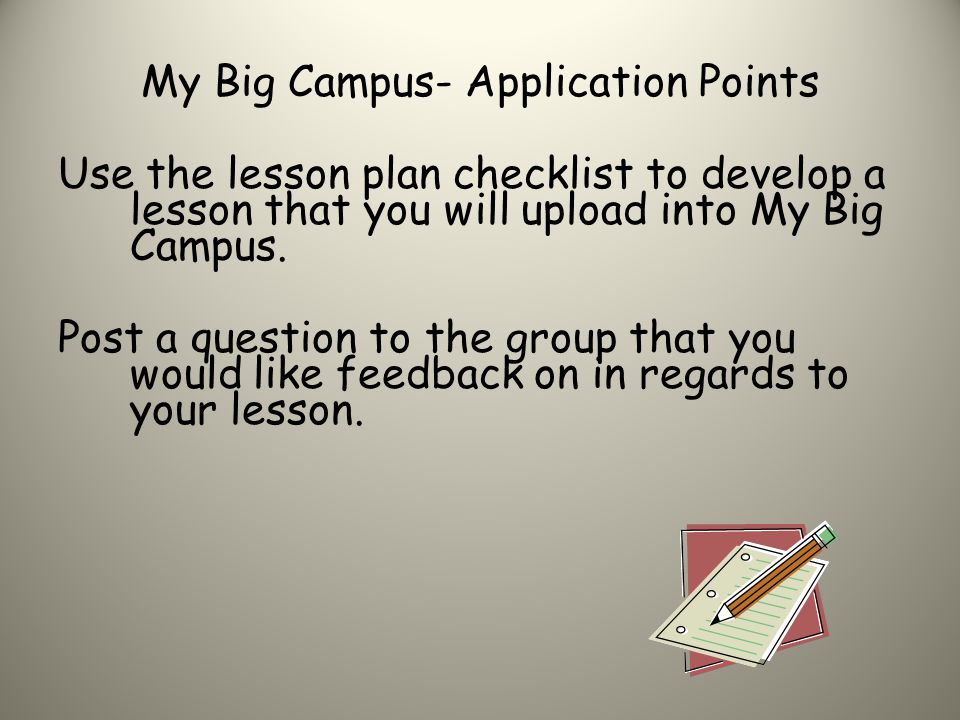 My Big Campus- Application Points
