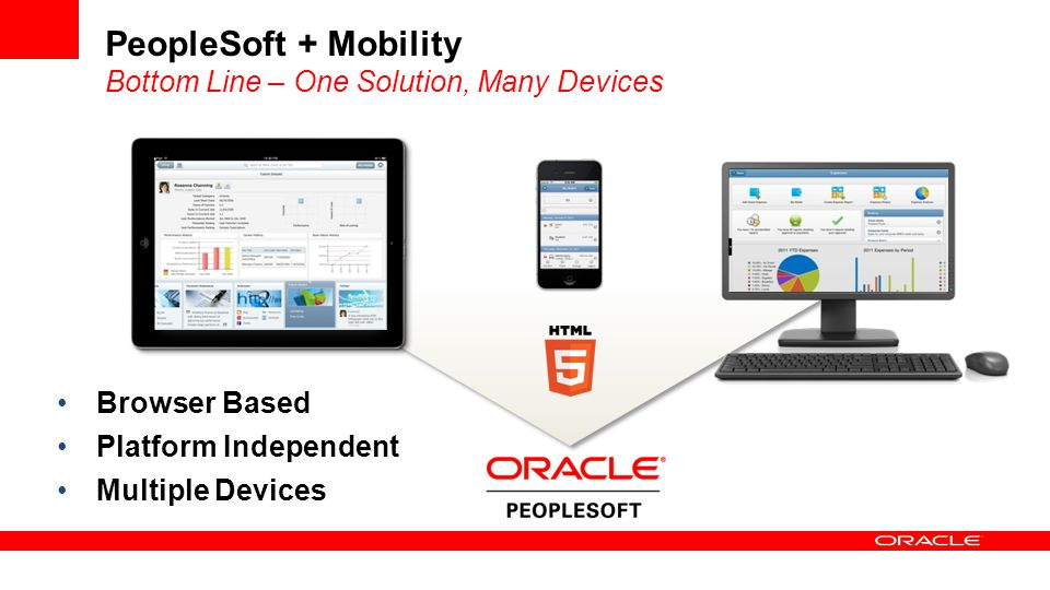 PeopleSoft + Mobility Bottom Line – One Solution, Many Devices