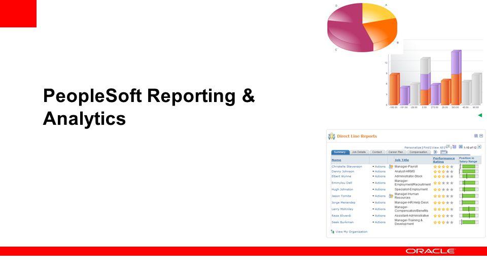 PeopleSoft Reporting & Analytics