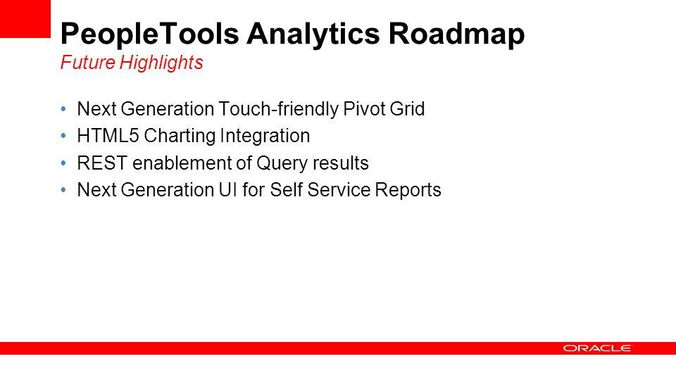 PeopleTools Analytics Roadmap Future Highlights