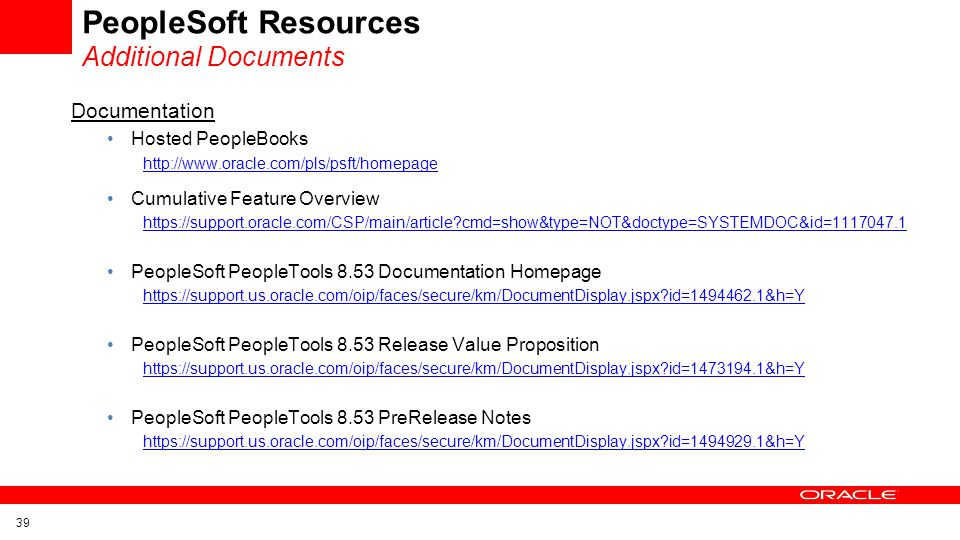 PeopleSoft Resources Additional Documents