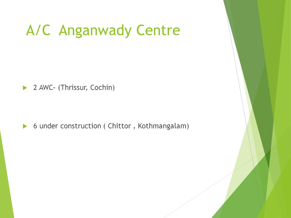 A/C Anganwady Centre 2 AWC– (Thrissur, Cochin)