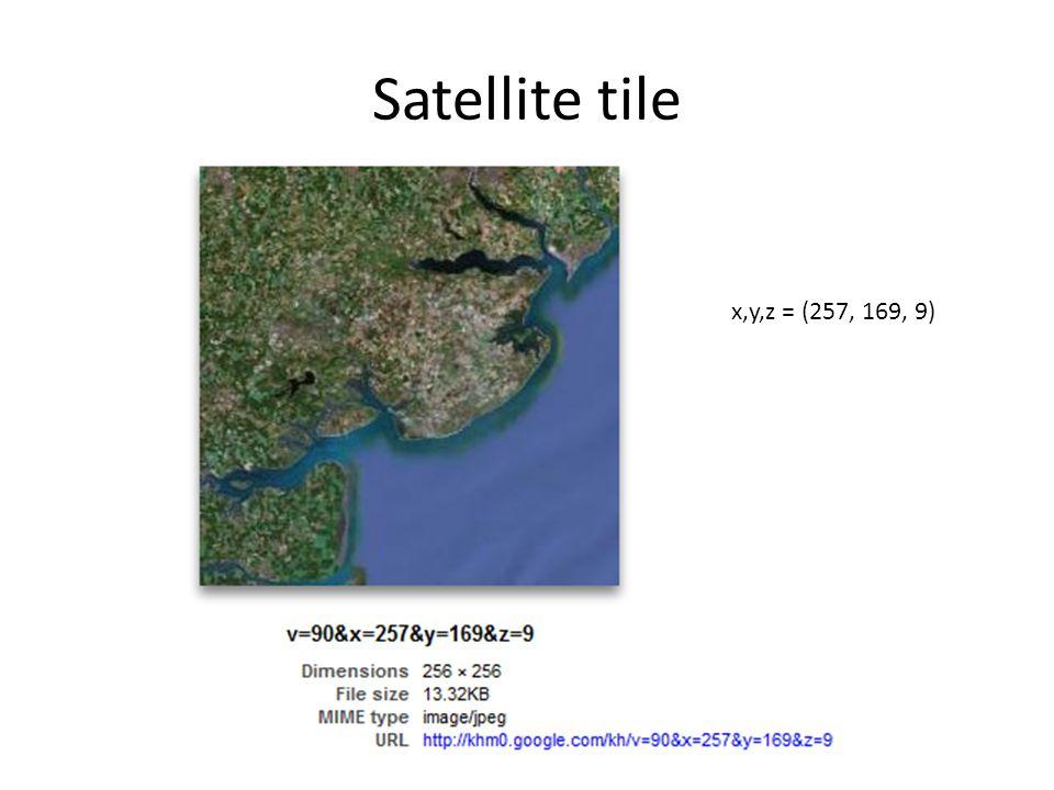 Satellite tile x,y,z = (257, 169, 9)