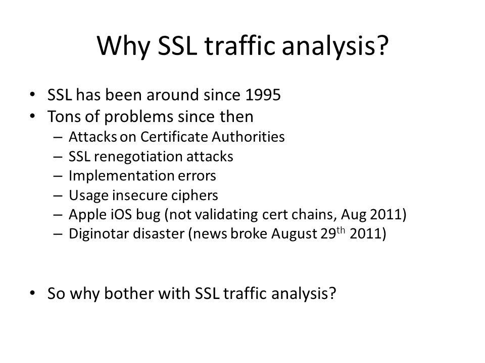 Why SSL traffic analysis