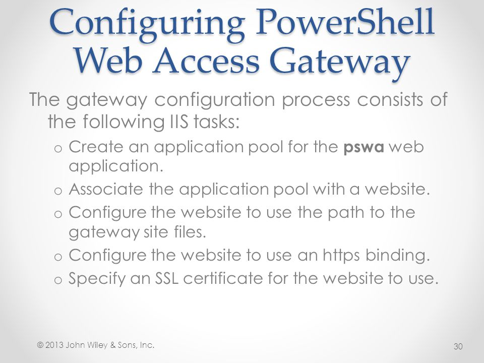 Configuring PowerShell Web Access Gateway