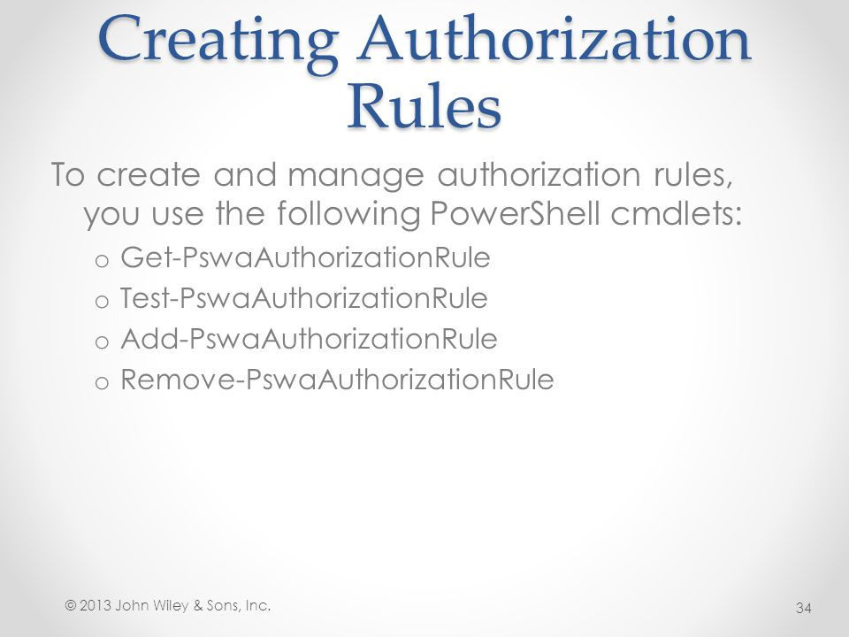 Creating Authorization Rules