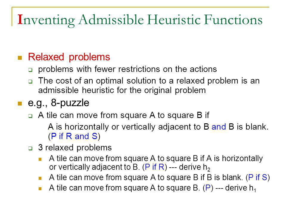 Inventing Admissible Heuristic Functions