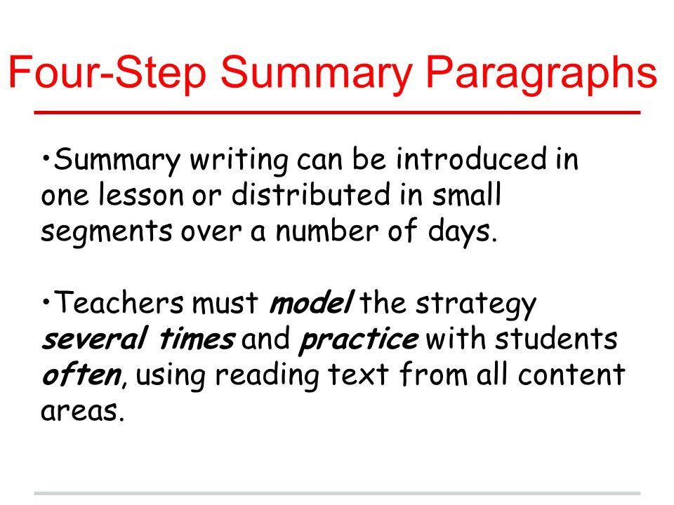Four-Step Summary Paragraphs