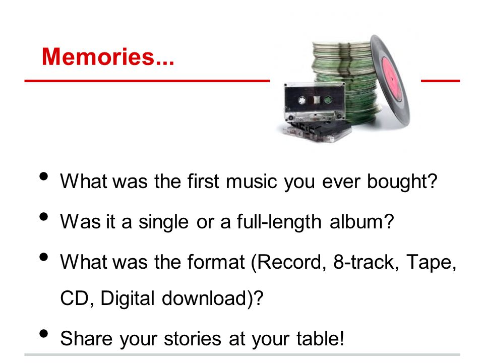 Memories... What was the first music you ever bought