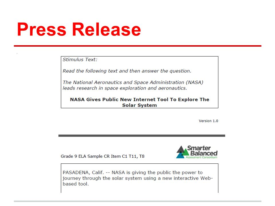 Press Release .