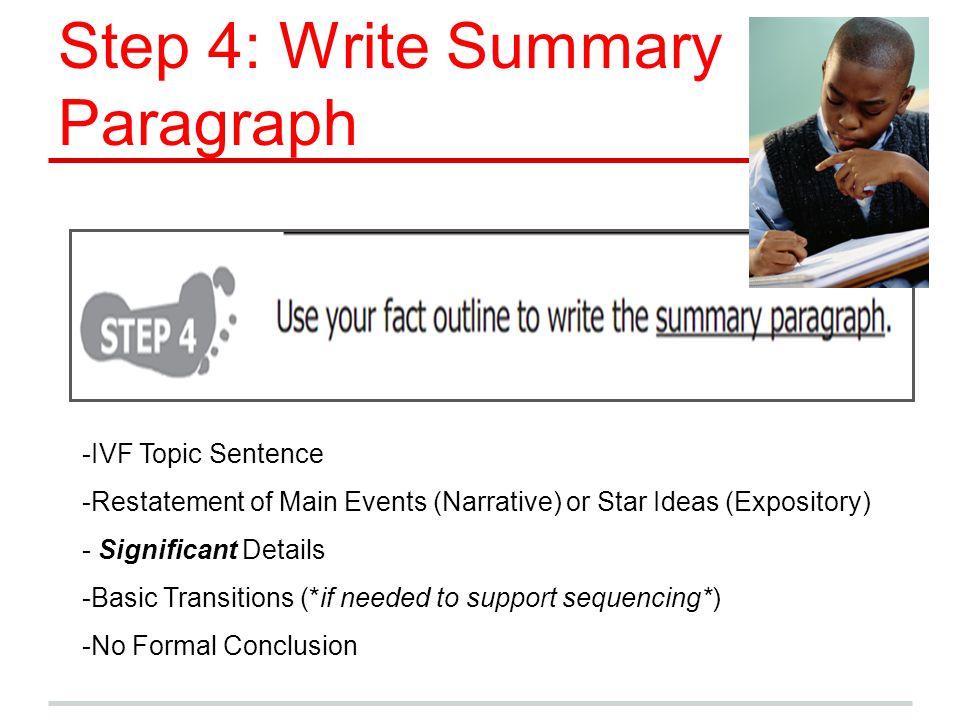 Step 4: Write Summary Paragraph
