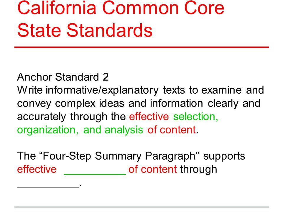 California Common Core State Standards