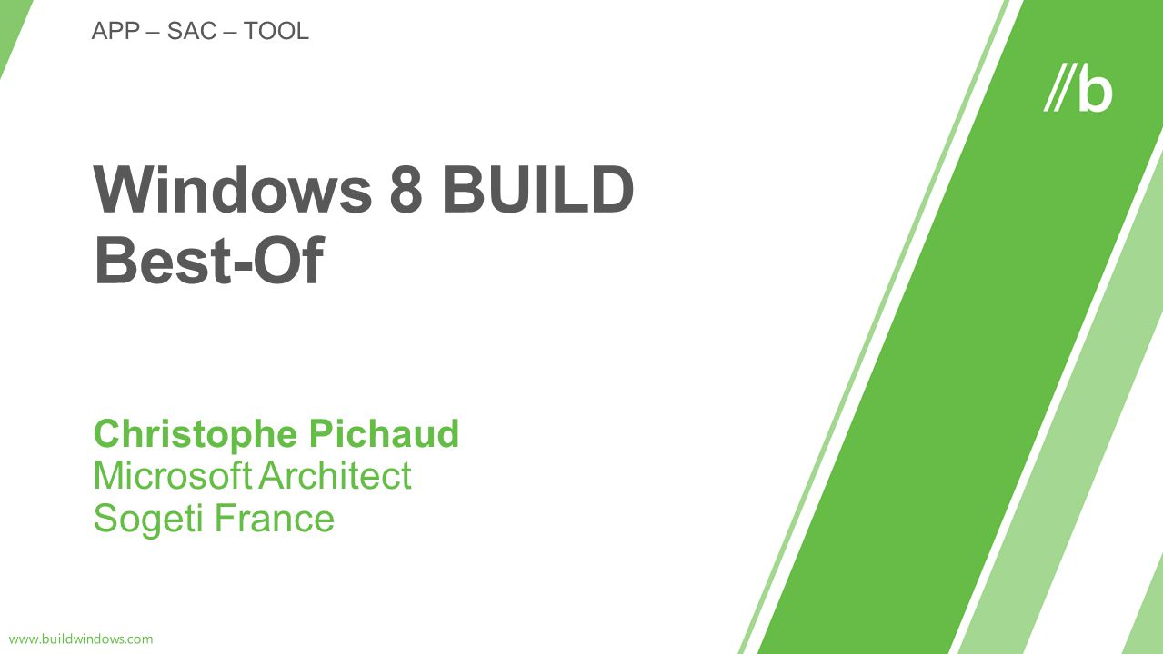Christophe Pichaud Microsoft Architect Sogeti France
