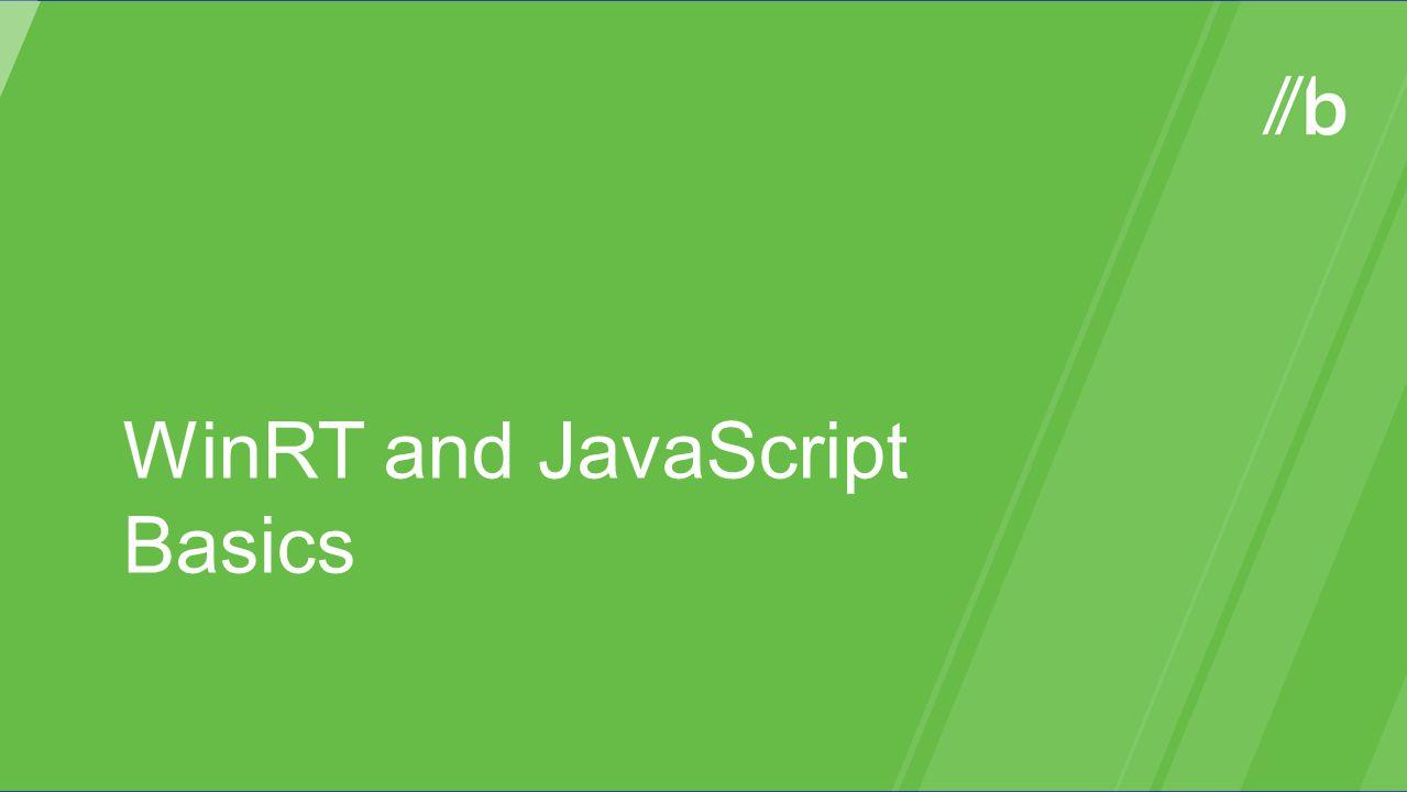 WinRT and JavaScript Basics