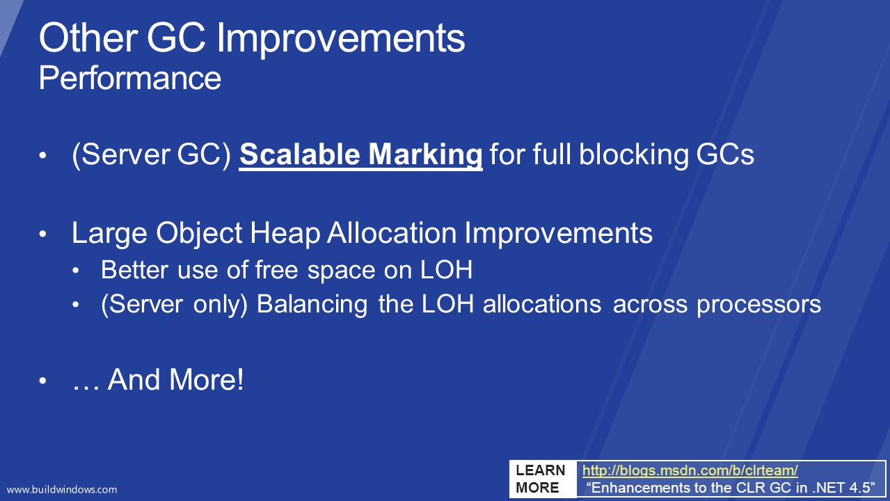 Other GC Improvements Performance