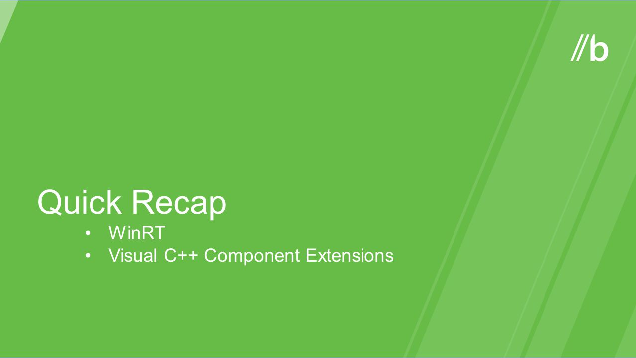 Quick Recap WinRT Visual C++ Component Extensions