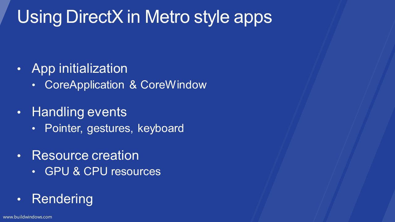 Using DirectX in Metro style apps