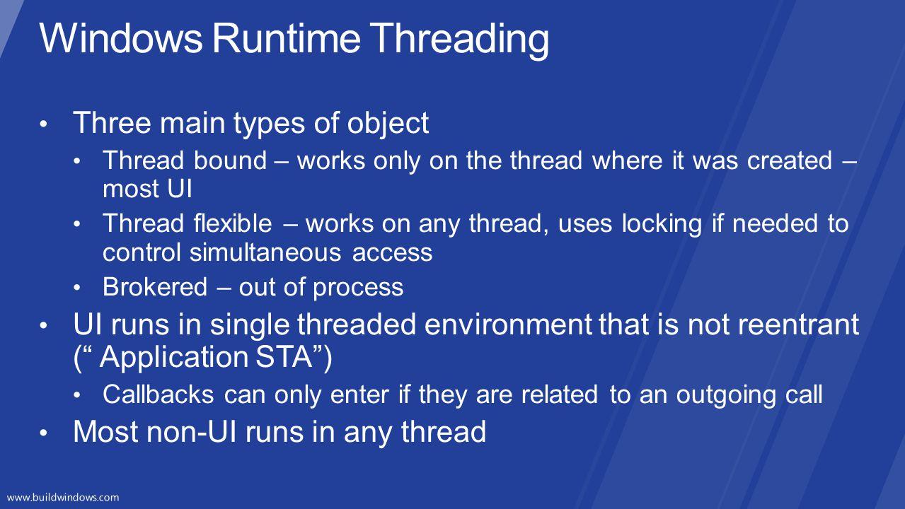Windows Runtime Threading